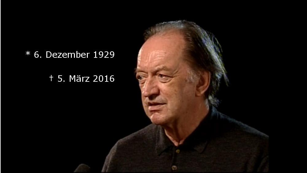 In Erinnerung an den großen Dirigenten Nikolaus Harnoncourt
