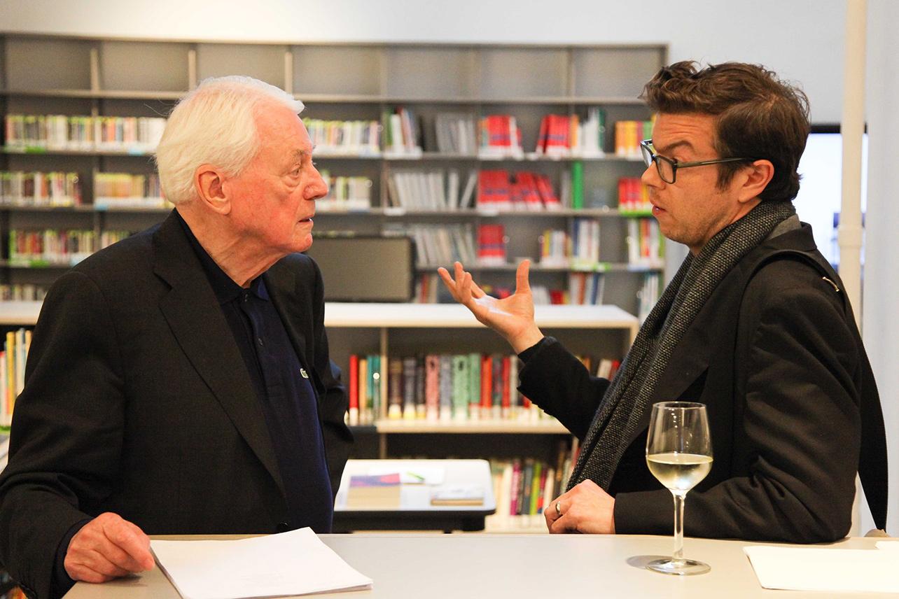 Alexander Kluge & Ben Lerner im Goethe Institut New York