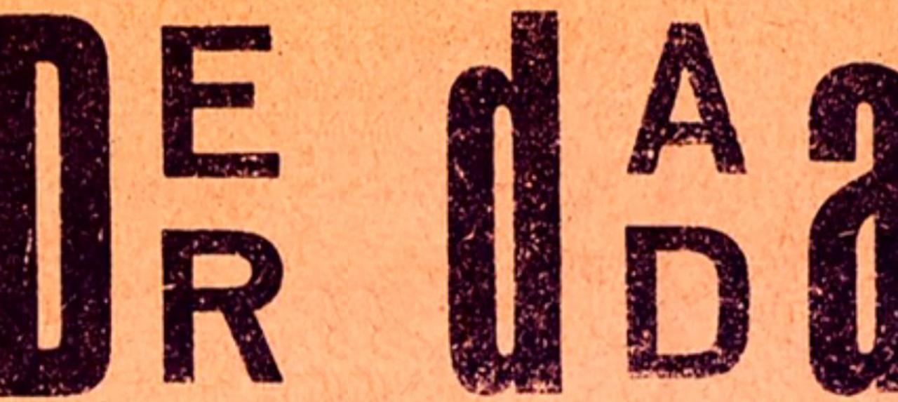 Februar 1816: Geburtsstunde des DADA