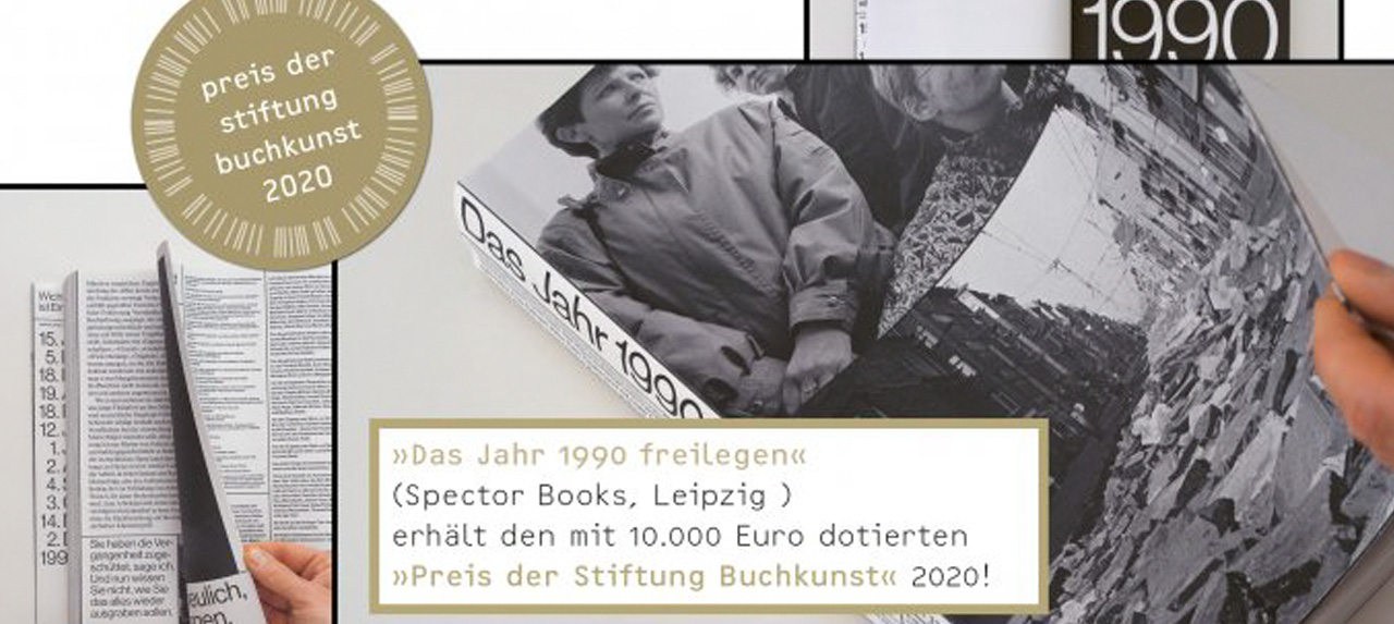 """""""Das Jahr 1990 freilegen"""" erhält den Preis der Stiftung Buchkunst 2020"""